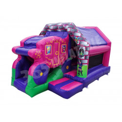 Princess Carriage Front Slide Bouncer