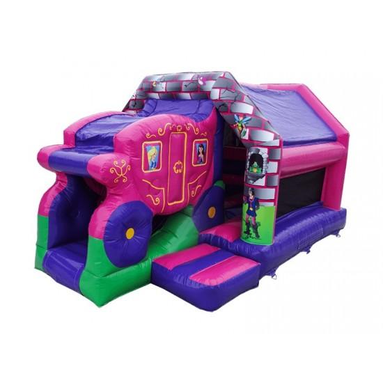 Princess Carriage Front Slide Bouncer