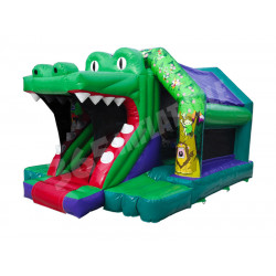 Croco Front Slide Bouncy Castle
