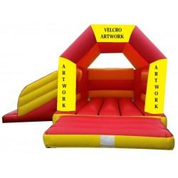 Velcro Arched Roof Castle Slide Combo