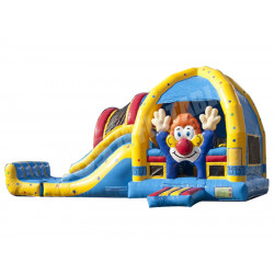 Clown Bounce House With Slide