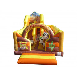 Western Inflatable Bouncy Castle Slide
