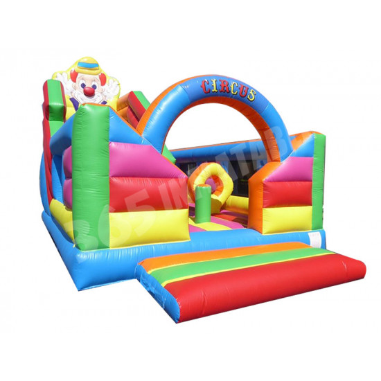 Circus Bouncy Castle With Slide