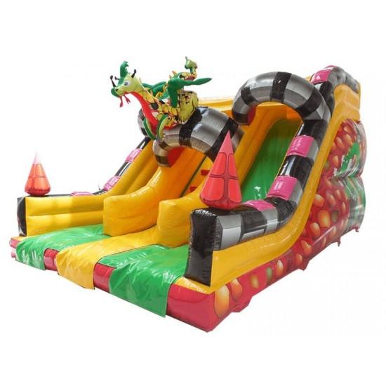 Inflatable Double Slide Dragon