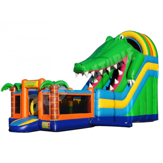 Inflatable Multiplay Crocodile Slide