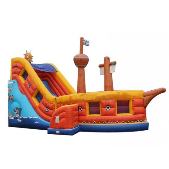 Inflatable Pirate Boat Toboggan