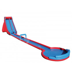 Inflatable Aquatic Track With Slide