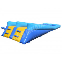 Sloped Twin Lane Water Slide