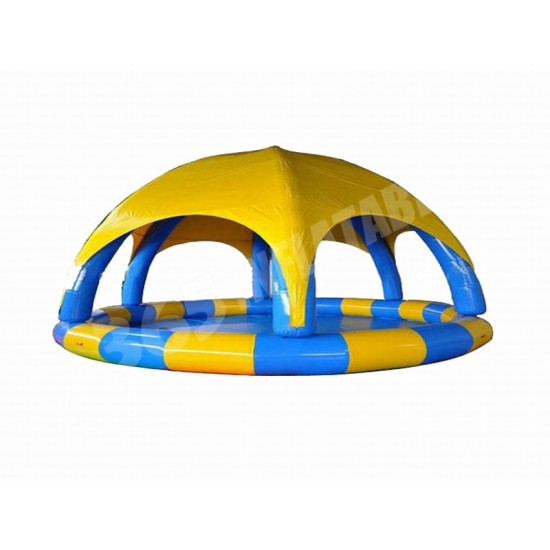 Inflatable Pool With Tent Cover